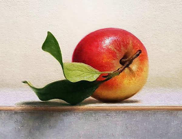 Painting: Stilleven met appel II