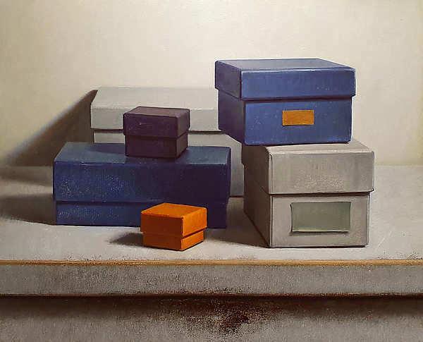 Painting: Stilleven met doosjes