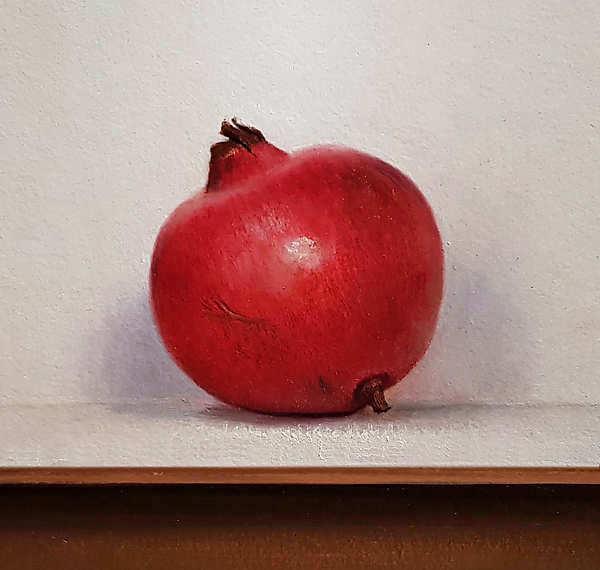 Painting: Stilleventje met granaatappel