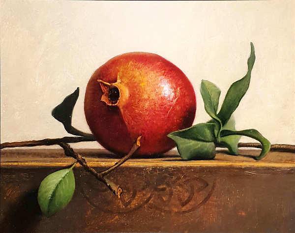 Painting: Stilleven met granaatappel.