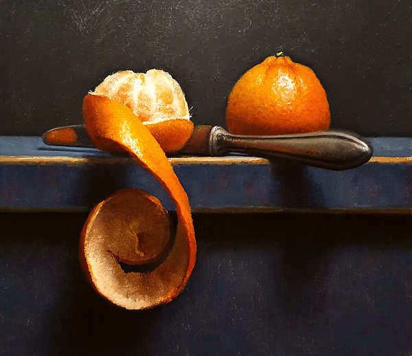 Painting: Stilleven met mandarijntjes.