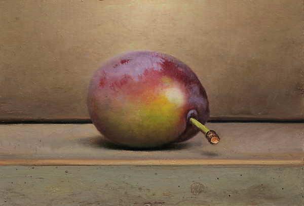 Painting: Stilleven met pruim