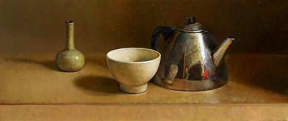 Painting: Stilleven met theepot