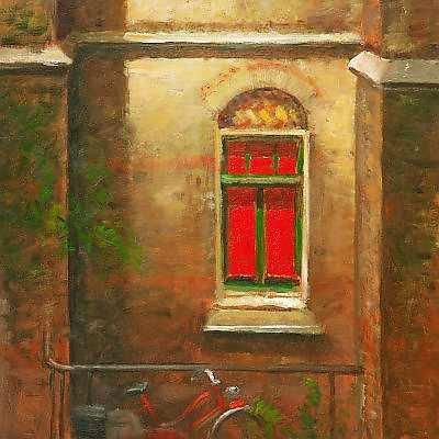 Painting: Raam bij de Refter, Ubbergen