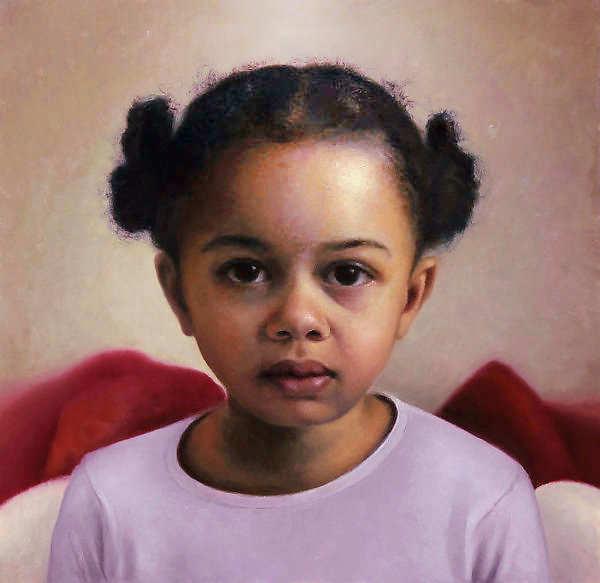 Painting: Portret van meisje