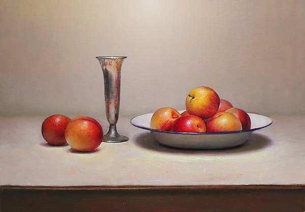 Painting: Stilleven met pruimen