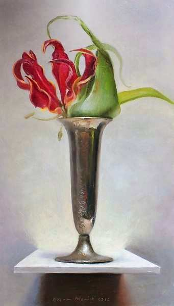 Painting: Stilleven met Gloriosa