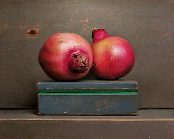 Painting: Stilleven met granaatappels
