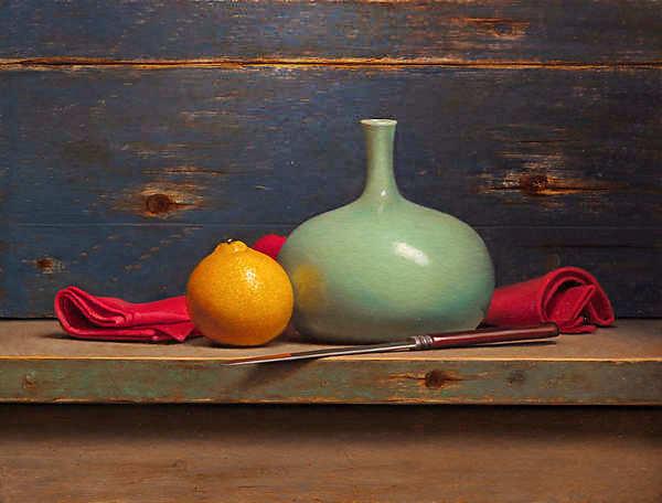 Painting: Stilleven met minneola