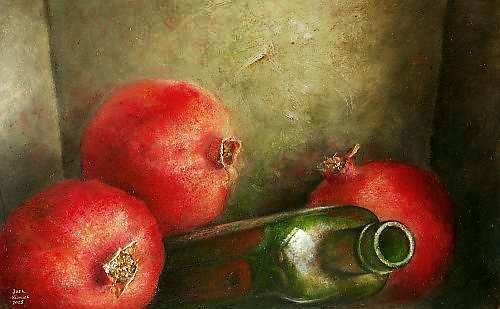 Painting: Stilleven met fruit