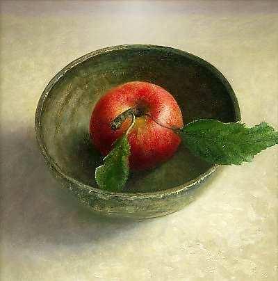 Painting: Kommetje met appel