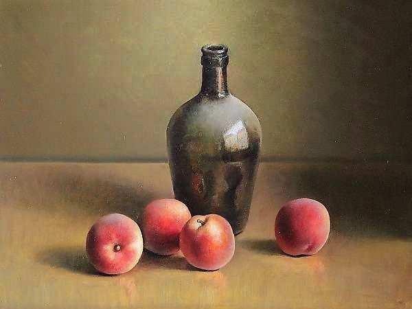 Painting: Stilleven met perziken