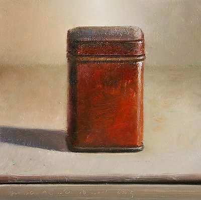 Painting: Stilleven met rood blikje