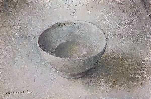 Painting: Stilleven met grijs kommetje