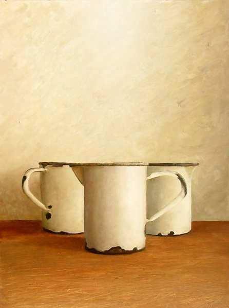 Painting: Witte litermaten
