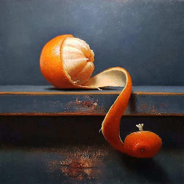 Painting: Mandarijnstilleventje
