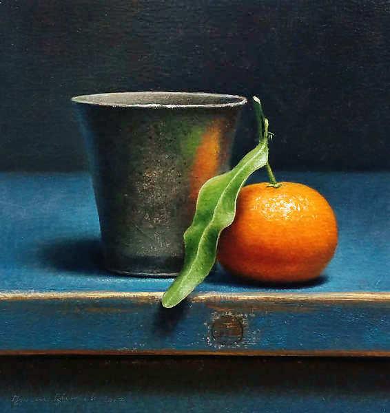 Painting: Stilleven met tinnen beker