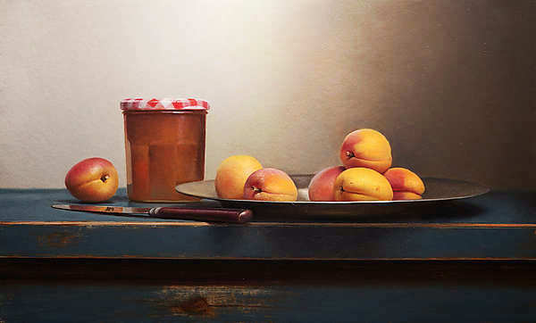 Painting: Stilleven met abrikozenjam