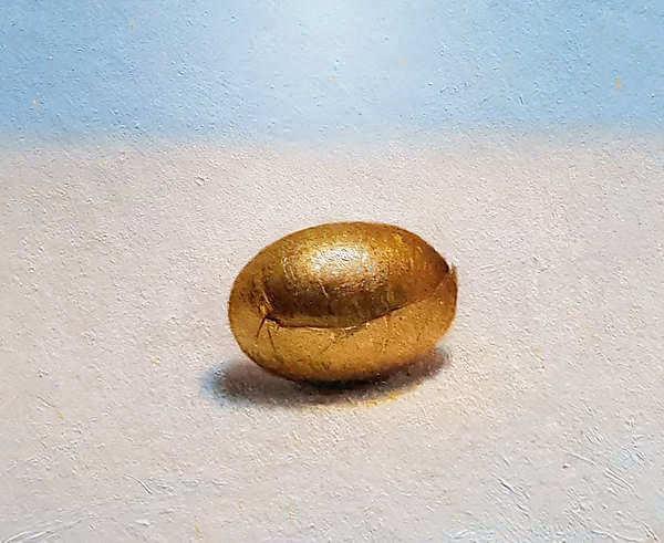 Painting: Stilleven met chocolade eitje II