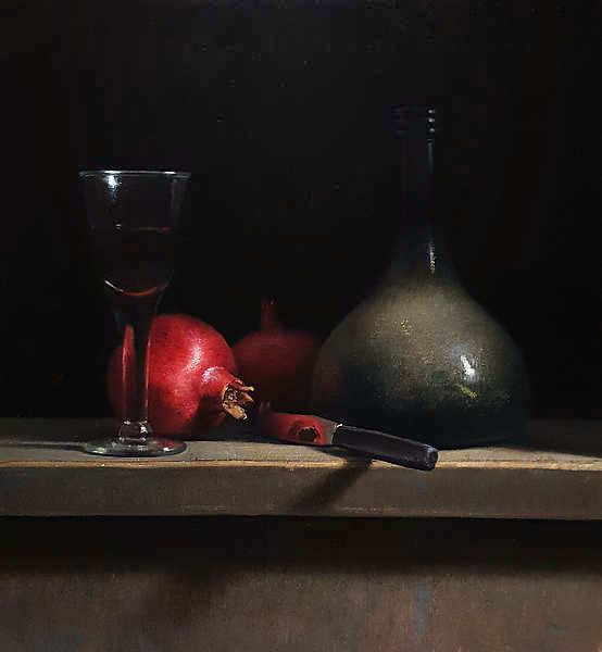 Painting: Stilleven met granaatappels.