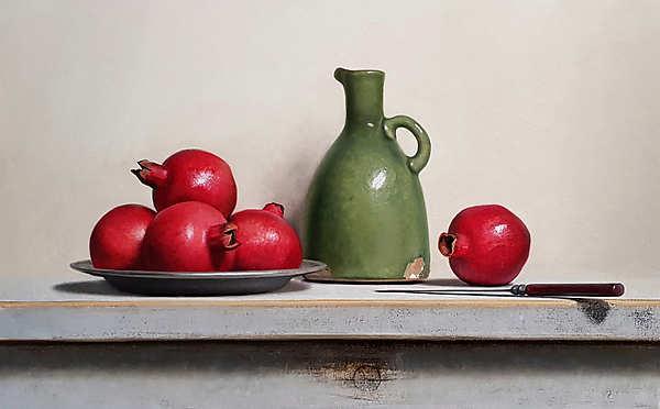 Painting: Stilleven met granaatappesl