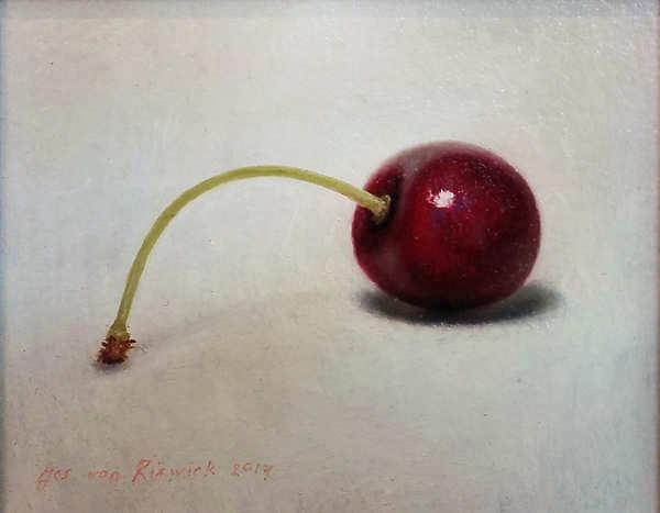 Painting: Stilleven met kers