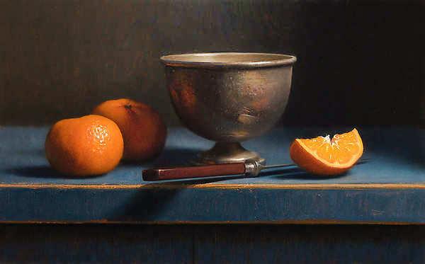 Painting: Stilleven met mandarijnen