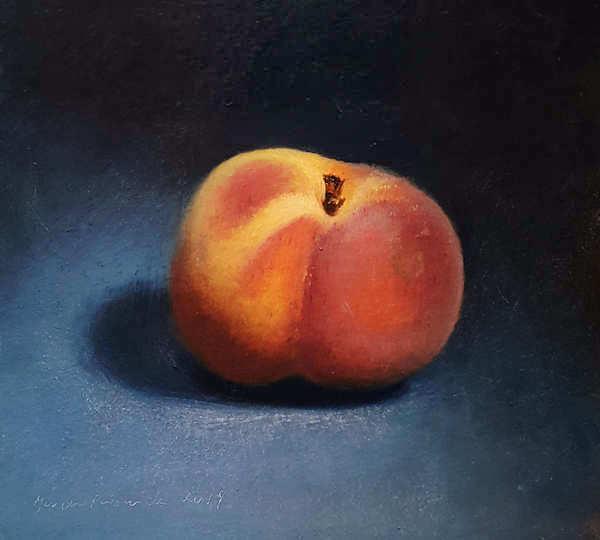 Painting: Stilleven met perzik