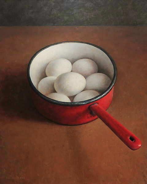 Painting: Stilleven met eieren