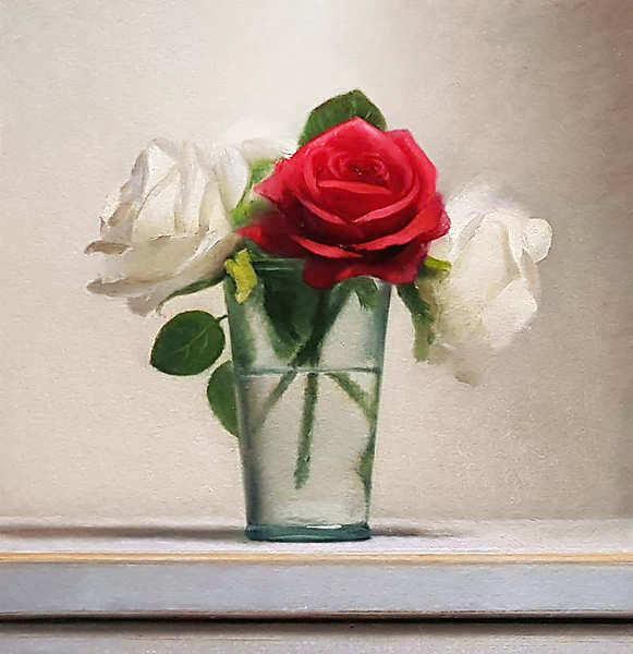 Painting: Stilleven met rozen