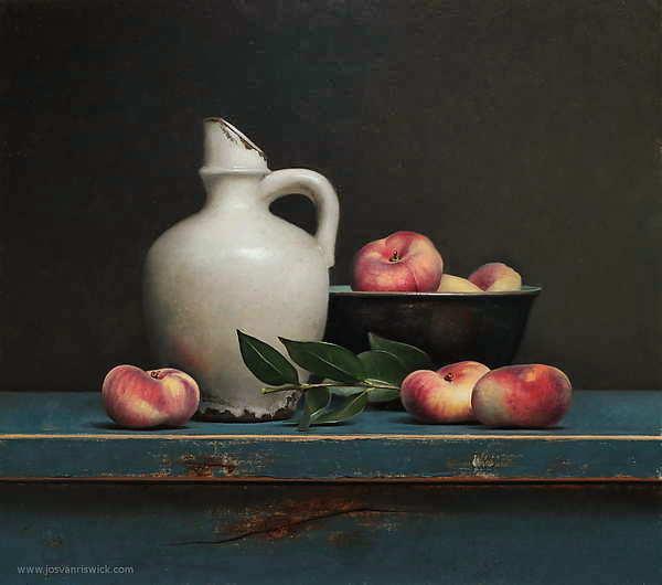 Painting: Stilleven met wilde perziken