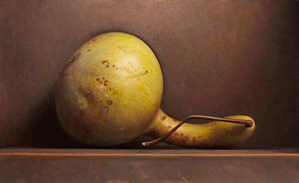 Painting: Stilleven met gele kalebas