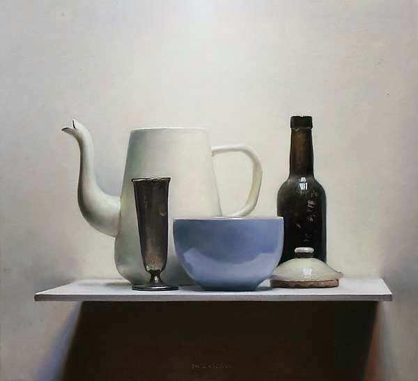 Painting: Stilleven met koffiekan