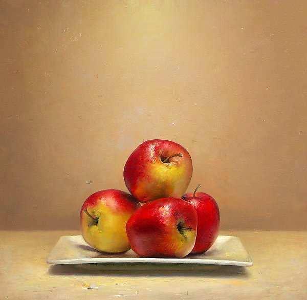 Painting: Stilleven met appelen
