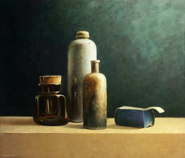 Painting: Stilleven met thermoskruik