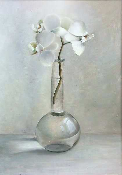 Painting: Stilleven met orchideeen