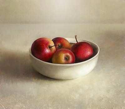 Painting: Schaal met appelen