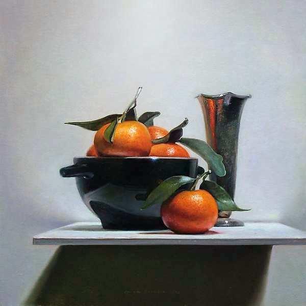 Painting: Stilleven met mandarijntjes II