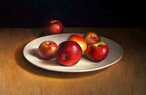 Painting: Stilleven met appels