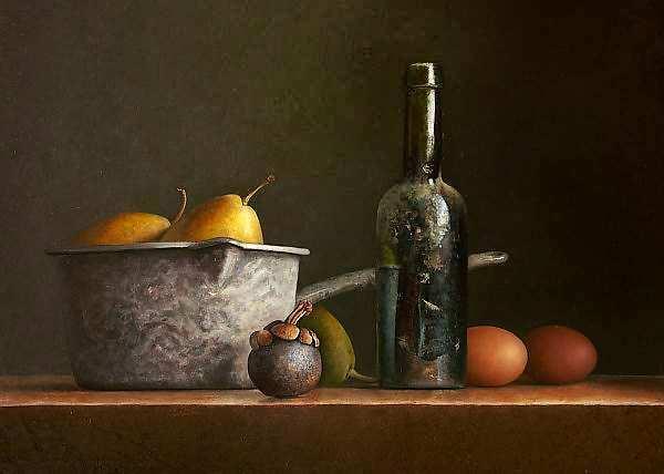 Painting: Stilleven bierfles