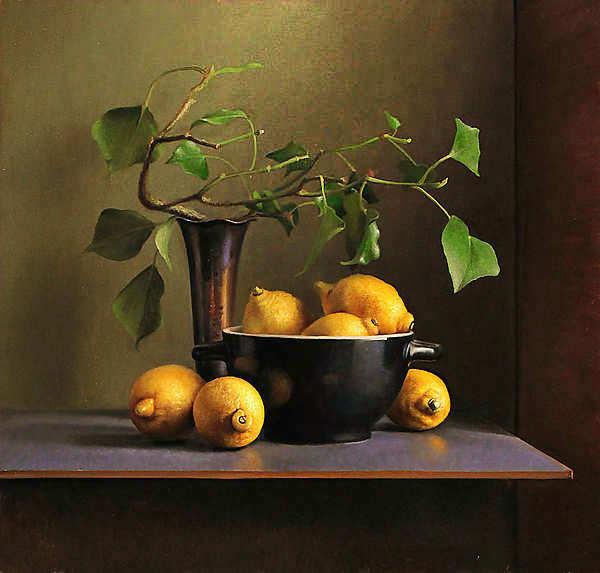 Painting: Stilleven met citroenen