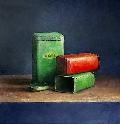 Painting: Stilleven met koffie b