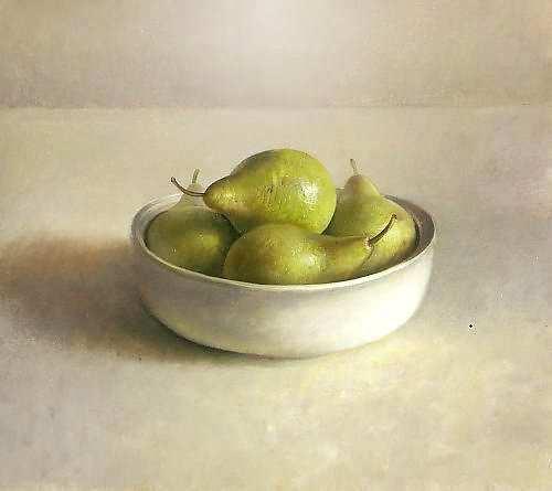 Painting: Schaal met peren