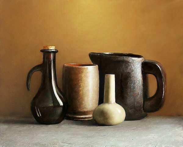 Painting: Stilleven met objecten van Het Goed