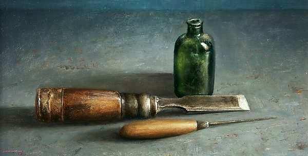 Painting: Stilleven met beitel