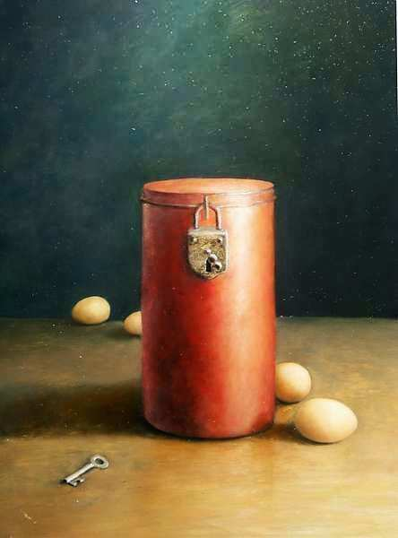 Painting: Rode Cylinder
