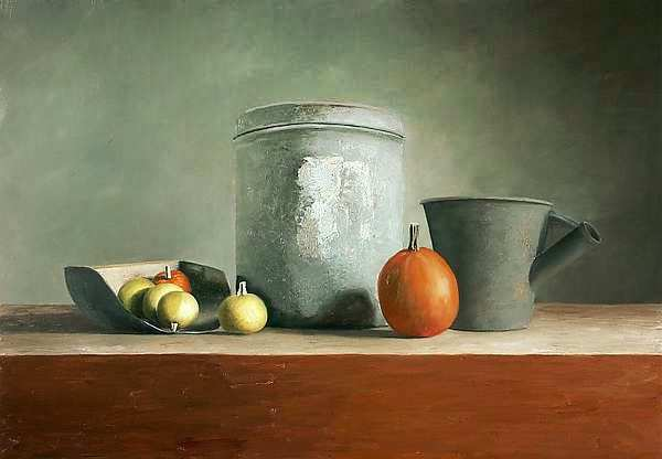 Painting: Stilleven met emmer