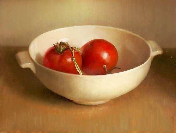 Painting: Stilleven met tomaten