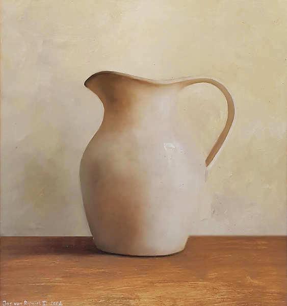 Painting: Stilleven met witte kan